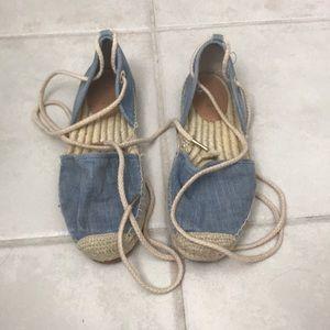 Michael Kors blue espadrilles lace up
